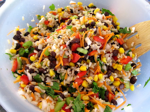 Beans And Rice Salad Recipe — Dishmaps