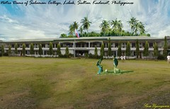 Notre Dame of Salaman (Asus Nerugnayu) Tags: travel school trees wallpaper portrait sky panorama plants color building tree art college window nature fruits beauty grass architecture clouds buildings woodland garden campus poster landscape asian photography casa cool scenery paradise gallery view image artistic landscaping philippines masonry cottage lawn engineering places bluesky scene palm views geography botany schoolgirls fortress geographic cultural beautifulview ecosystem mindanao beautifulspot panoramicview sultankudarat paradeground salaman upi cotabato manobo beautifulviews globalcity northcotabato kulaman lebak worldcities isulan kalamansig morogulf susauyanguren notredameofsalaman