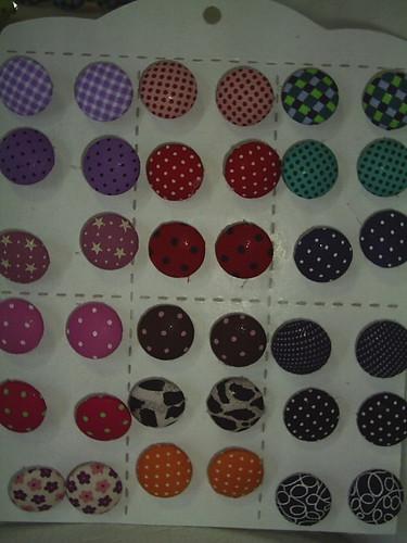 brincos botão by Scheila Veiga