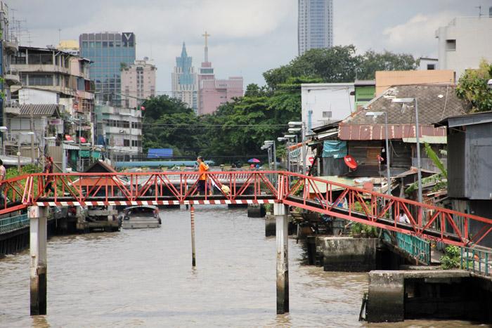 View of Bangkok from the Khlong Saen Saeb
