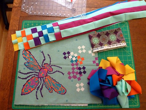 Ruby Star Spring - I feel a Quilt Coming On by Sarah @ pingsandneedles