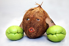 Fun with Photoshop - Coconut (SingleDadLaughing) Tags: face mouth eyes funny coconut squash produce photographyphotoshop