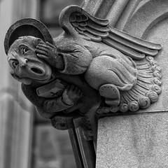 Washington National Cathedral Gargoyle (Mark Haverty) Tags: blackandwhite church washingtondc cathedral gargoyle 70300mm d90