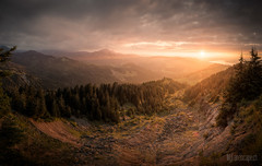 ~ Lauihchi: Sunset Panoama ~ (dmkdmkdmk) Tags: sunset panorama lake mountains alps clouds switzerland evening nikon swiss zurich scenic hdr laui d700 lauihchi lauiloch lauihchisonnenuntergangpanorama
