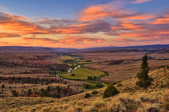 Morning Glow on the Laramie (Fort Photo) Tags: morning pink sky nature sunrise river skyscape landscape nikon bravo glow valley wyoming hdr laramie wy laramieriver d700