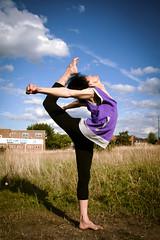 Warming Up (spazmock) Tags: crazy amazing jump ninja dancer 365 impressive splits sohigh 365project
