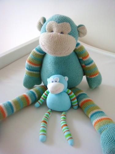 Monkey with Fondant Monkey