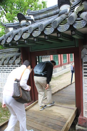 Be careful with your head at Changdeokgung Palace, Seoul South Korea