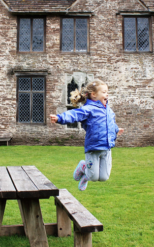 Erin jumping