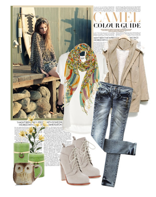 jeans and a blazer, fashion, outfit, jeans, light blazer, light boots, white suede boots, polyvore casual outfit