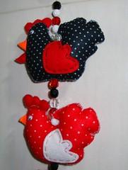 Mbile Galinhas (Ateli de Ideias) Tags: feltro galinhas