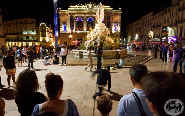 Night Life On The Place De La Comédie Montpellier