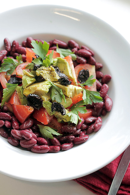 Kidney beans, Tomatoes and Avocado