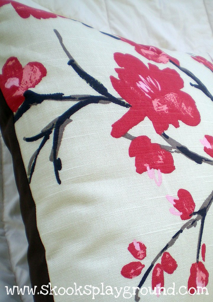 Cherry Blossom Pillow Detail