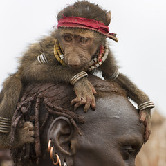 Bruce Springsteen fan in Ethiopia (Eric Lafforgue) Tags: animal monkey artistic culture tribal ornament tribes bodypainting tradition tribe ethnic rite tribo adornment singe pigments ethnology tribu eastafrica thiopien etiopia ethiopie etiopa 9832  etiopija ethnie ethiopi  dassanech etiopien etipia  etiyopya  nomadicpeople    dassanetch   daasanach dassanach    peoplesoftheomovalley