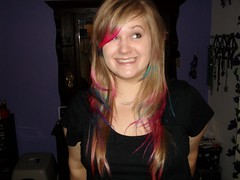 Angela (Maria Clarite) Tags: pink blue colors hair fun style tips dye layered cosmetology