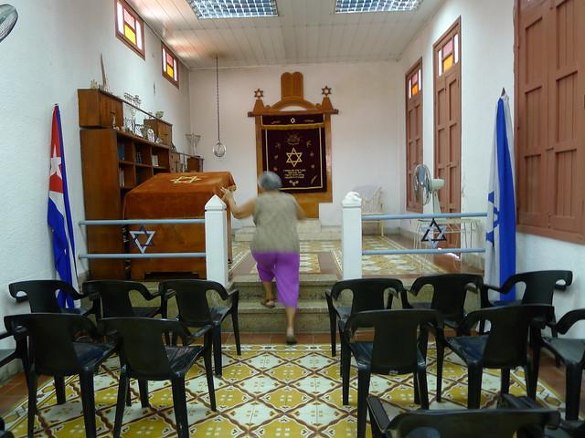 Norma inside  Communidad Hebrea Hatikva - Santiago de Cuba