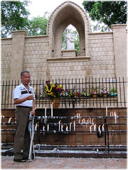 My darling John at St Anne's grotto, at hilltop behind Shrine of St Anne, Bukit Mertajam