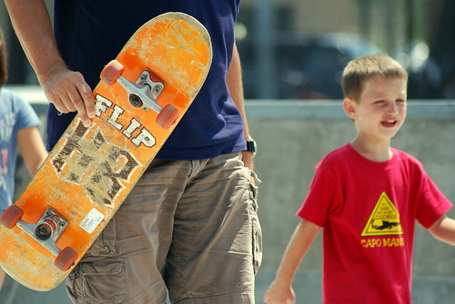 Skateboard Park - Practice with Dad