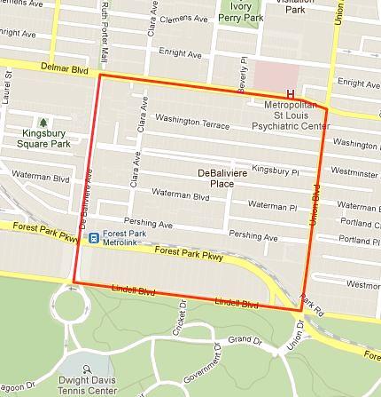 DeBaliviere Place neighborhood - STL