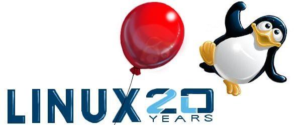 Felicitación del cumpleaños de Linux