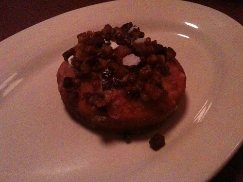 Course Three: Brioche Donut with Maple-Bourbon-Bacon Cream Filling