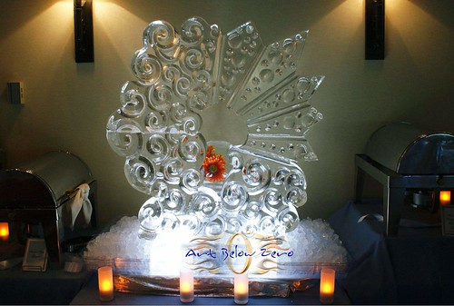 Silver Lining ice sculpture
