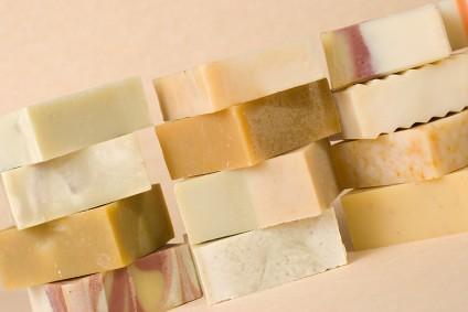 group of handmade soap