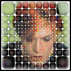 David Bowie (qthomasbower) Tags: portrait david rock collage star photo bowie mosaic mashup picture photomosaic pop glam fractal visual photocollage davidbowie visualmashup qthomasbower davidbowiemosaic bowieportrait davidbowieportrait