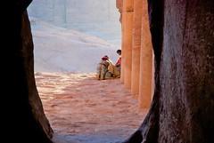 Petra (cranjam) Tags: ruins hole petra columns middleeast unesco worldheritagesite jordan buco bedouins colonne rovine beduini mediooriente giordania nabateans nabataeans