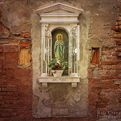 Rita Crane Photography:  Venice / Shrine / wall / texture / prayer / Virgin Mary / Ave Maria (Rita Crane Photography) Tags: venice italy