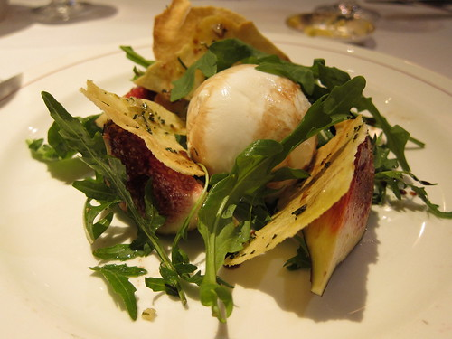 Mozzarella with fig and rocket