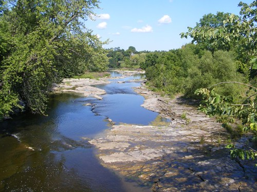 The Rideau River rapids