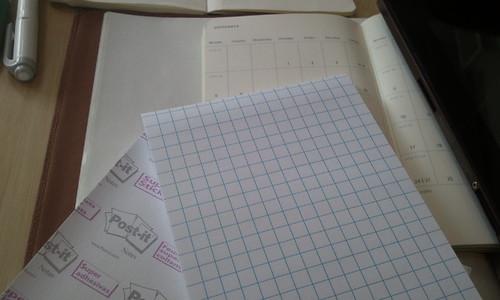post-it in grid