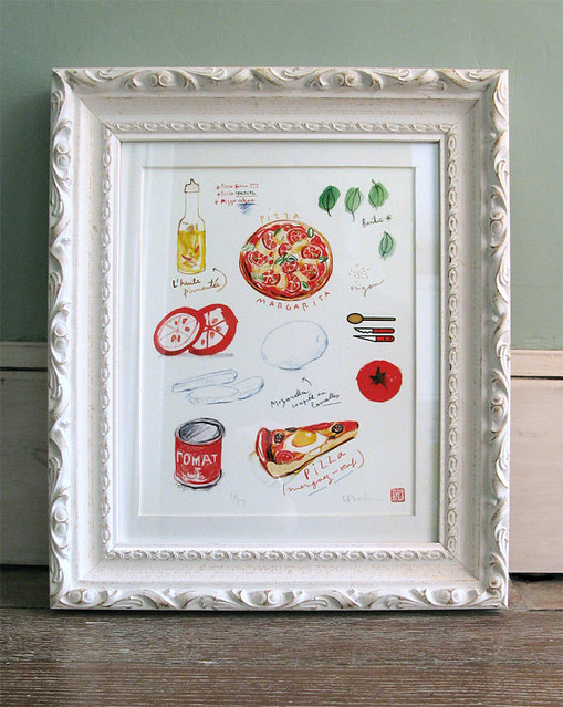 Pizza Ingredients Print by lucileskitchen