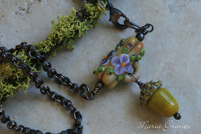 Grow- Lampwork Necklace