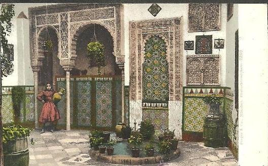 Patio del Pintor R.Barajas en la calle Cristo de la Luz a comienzos del siglo XX. Foto Pürger