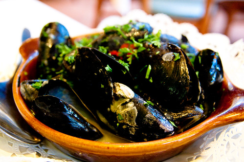 Mussels with Green Sauce at Mallorca