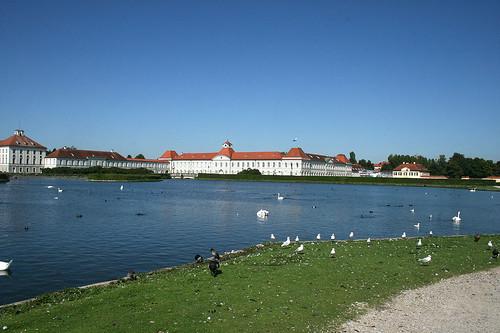 Blick auf den Nordflügel - Schloß Nymphenburg