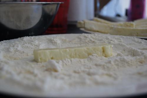 halloumi recipes  - coating cheese
