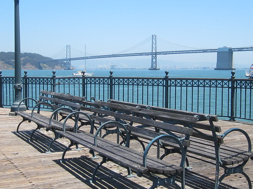 Benches on SF Pier