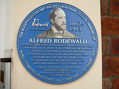 Photo of Alfred Rodewald blue plaque