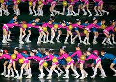Arirang Mass Games - North Korea (Joseph A Ferris III) Tags: cute kids ball dress gymnast northkorea pyongyang dprk arirang massgames