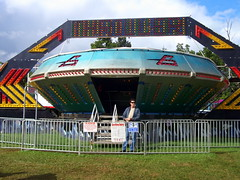 A & P Shows Gravitron. (dccradio) Tags: sky grass festival wisconsin clouds fence fairgrounds ride cloudy alien lawn overcast bluesky fair ufo ap greenery spaceship wisdom countyfair wi amusements gravitron starship carnivalride thrillride marshfield amusementride communityevent woodcounty fairride mechanicalride mechanicaldevice amusementdevice centralwisconsinstatefair apshows apenterpriseshows apcarnival wisdomrides wisdomindustries ridefence wisdommanufacturing centralwiscosnsin