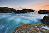 Ocean (Nora Carol) Tags: sunset bali nature indonesia moss wave angler colorsofthesea mengeningbeach