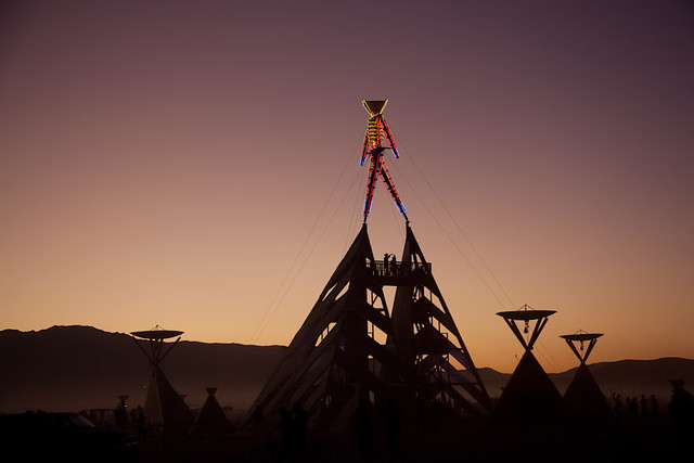 the man, Burning Man 2011