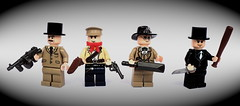 "WWII Resistance team (""Squeezy"") Tags: hat lego baseball top bat cricket tuxedo ww2 resistance members brickarms"