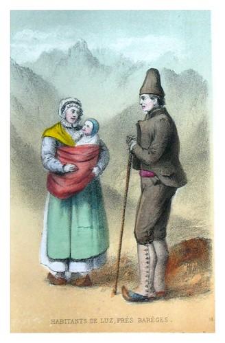 009-Habitantes de Luz cerca de Barèges-Costumes pyrénéens-1860