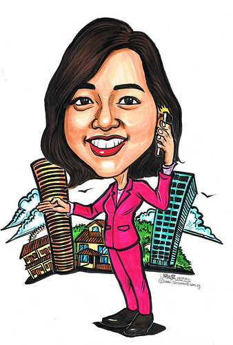 property agent caricature