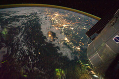 Night View of India-Pakistan Borderlands (NASA, International Space Station, 08/21/11) (NASA's Marshall Space Flight Center) Tags: pakistan india earth nasa himalayas newdelhi islamabad internationalspacestation indogangeticplain airglow stationscience crewearthobservation stationresearch permanentmultipurposemodule